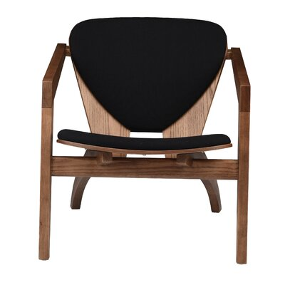Westley Lounge Chair Upholstery: Black