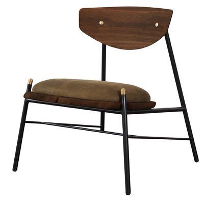 Aldo Lounge Chair Upholstery: Jin Green