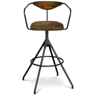 Dhrub Bar Stool Upholstery: Umber Tan
