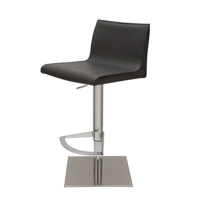Colter Adjustable Height Swivel Bar Stool Upholstery: Dark Grey