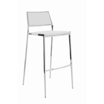 Lease to own Aaron Bar Stool Color: White...