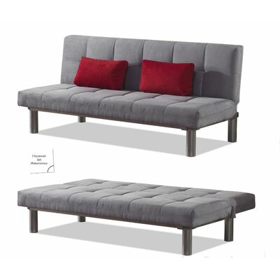 Relax Convertible Sofa Color: Gray