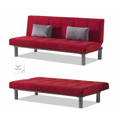 Relax Convertible Sofa Color: Red