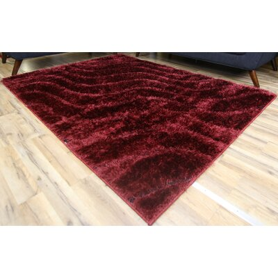 Unique Home Red Area Rug Rug Size: 53 x 73