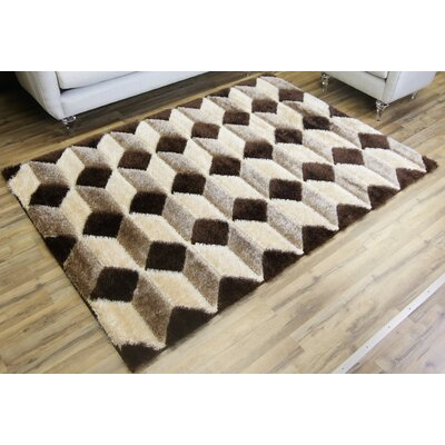 Unique Home Beige Area Rug Rug Size: 53 x 73