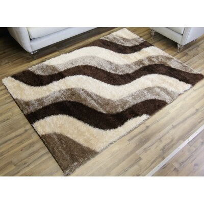 Unique Home Brown Area Rug Rug Size: 53 x 73