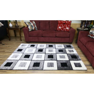 Gloria Gray Area Rug Rug Size: Runner 27 x 77