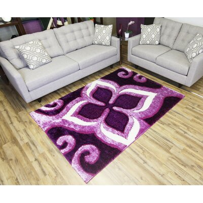 Gloria Purple Area Rug Rug Size: Runner 27 x 77