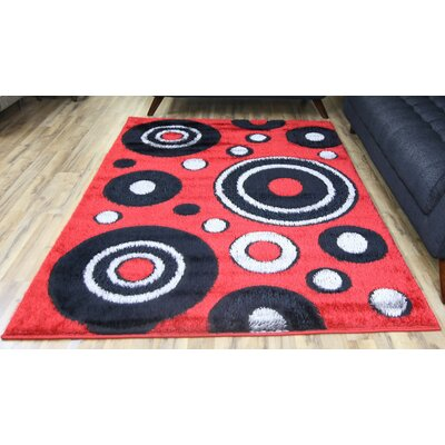 Gloria Red Area Rug Rug Size: Runner 27 x 77