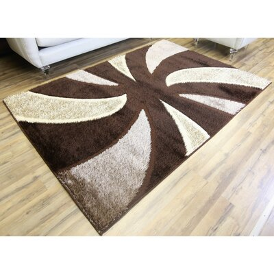 Gloria Brown Area Rug Rug Size: Runner 27 x 77