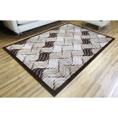 Crystal Brown/Beige Area Rug Rug Size: 311 x 53
