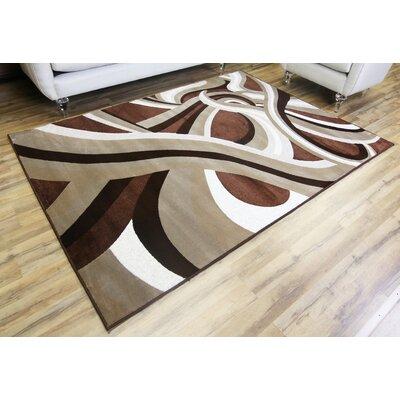 Crystal Brown/Beige Area Rug Rug Size: 53 x 73