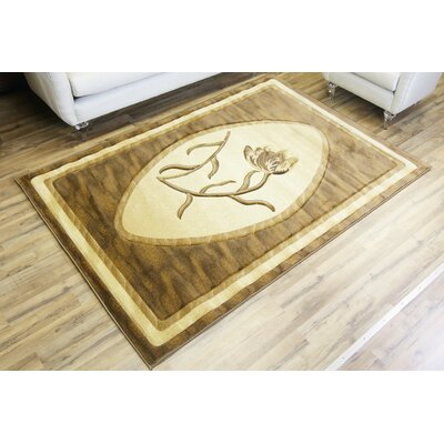 Rosa Brown/Beige Area Rug Rug Size: 5'3