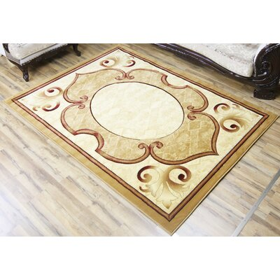 Rosa Beige/Red Area Rug Rug Size: 23 x 75