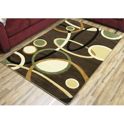 Rosa Brown/Beige Area Rug Rug Size: 3'11