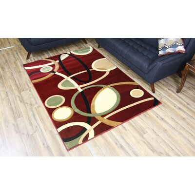 Rosa Red Area Rug Rug Size: 53 x 75