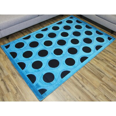 Shonil Blue/Black Area Rug Rug Size: Rectangle 7'10