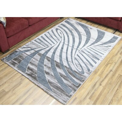 Shonil Gray Area Rug Rug Size: Rectangle 53 x 73