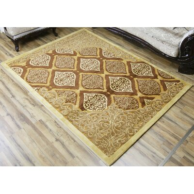 Shonil Beige/Brown Area Rug Rug Size: Rectangle 53 x 73