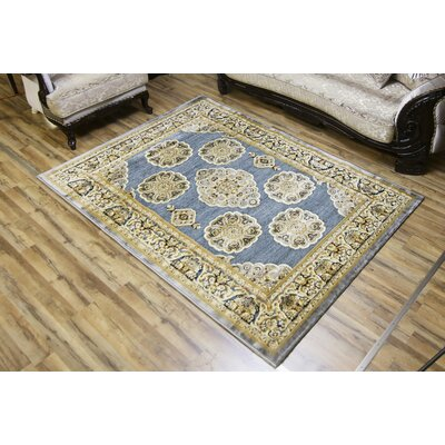 Shonil Gray/Beige Area Rug Rug Size: Rectangle 53 x 73