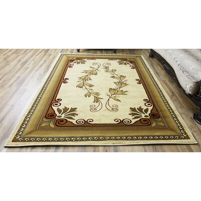 Super Belkis Ivory/Cream Area Rug Rug Size: 710 x 102