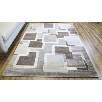Elif/Passion Brown Area Rug Rug Size: 710 x 102