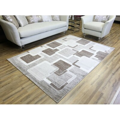 Passion Brown/Cream Area Rug Rug Size: 710 x 102