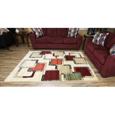 Passion Beige/Cream Area Rug Rug Size: 67 x 96
