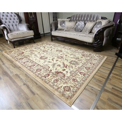 Passion Cream/Beige Area Rug Rug Size: 710 x 102