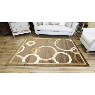 Passion Brown/Beige Area Rug Rug Size: 53 x 73