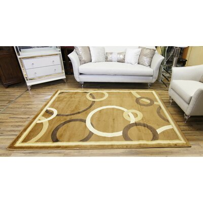 Passion Beige/Cream Area Rug Rug Size: 53 x 73