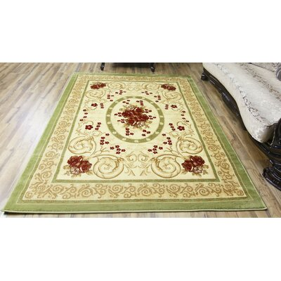 Elif/Passion Green Area Rug Rug Size: 7'10