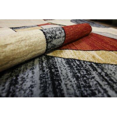 Elif/Passion Cream Area Rug Rug Size: 53 x 73