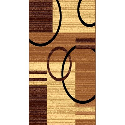 Kayra Brown Area Rug Rug Size: 710 x 910