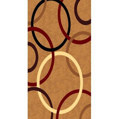 Kayra Beige Area Rug Rug Size: 710 x 910