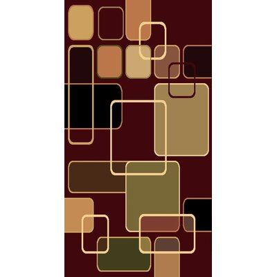 Kayra Red Area Rug Rug Size: 710 x 910