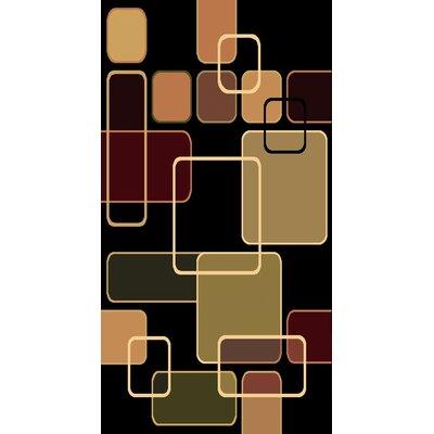 Kayra Black Area Rug Rug Size: 710 x 910