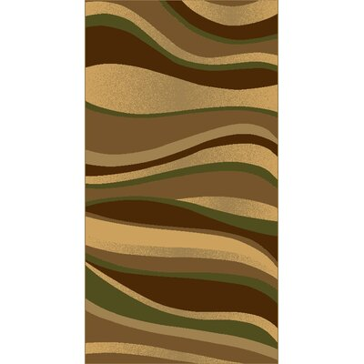 Kayra Green Area Rug Rug Size: 710 x 910