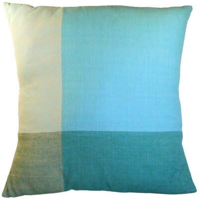 Four Colors Artisan Crafted Cotton Throw Pillow Size: Small, Color: Bright Blue