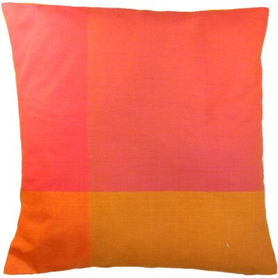 Four Colors Artisan Crafted Cotton Throw Pillow Size: Small, Color: Pink