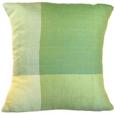 Four Colors Artisan Crafted Cotton Throw Pillow Size: Small, Color: Green