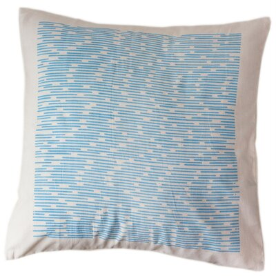 Cerulean Channels Cotton Throw Pillow