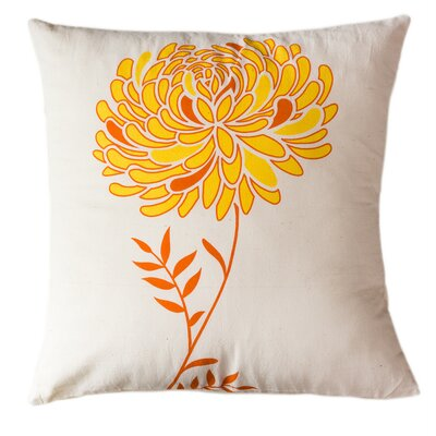 Solar Dahlia Cotton Throw Pillow Size: Small