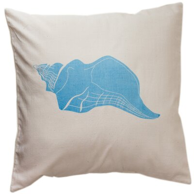 Laguna Beach Conch Cotton Throw Pillow Size: Small