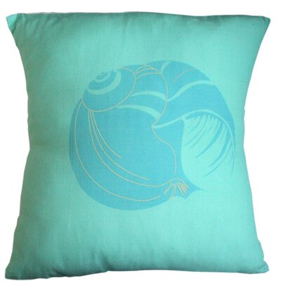 Floridian Coast Shell Cotton Throw Pillow Size: Large