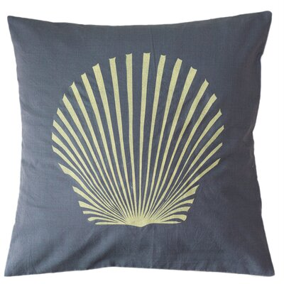Sanibel Island Shell Cotton Throw Pillow Size: Large