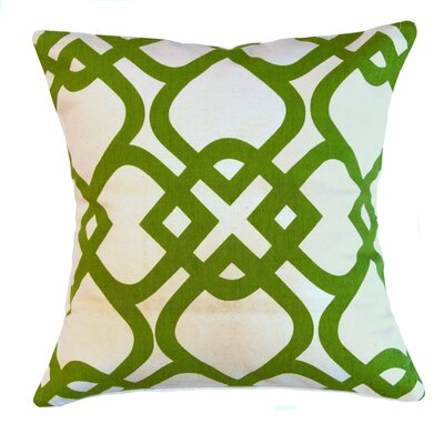 Santa Monica Courtyard Cotton Throw Pillow