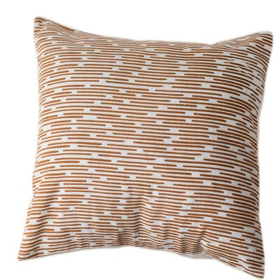 Burnt Channels Cotton Throw Pillow Size: Large