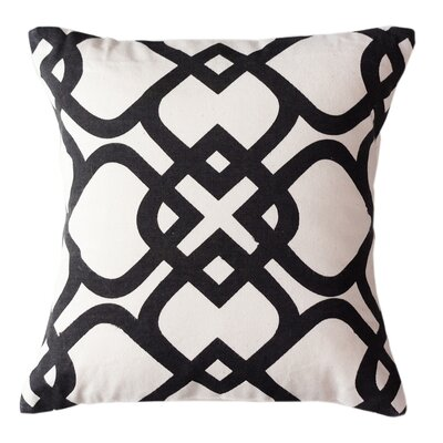 London Park Cotton Throw Pillow Size: Small