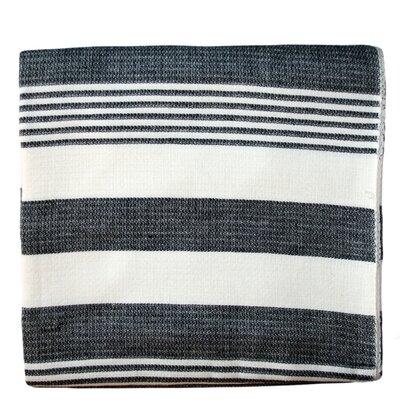 Striped Cotton Beach Blanket Color: Ebony